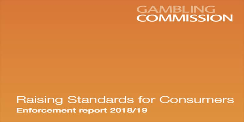 Photo of Enforcement Report for 2018 – 2019 Released by Gambling Commission