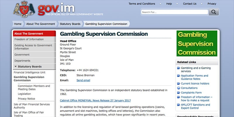 Photo of Isle of Man Gambling Supervision Commission