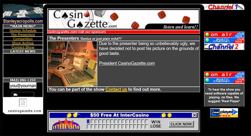 Casino Gazette in October 2000