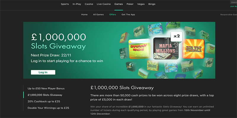 Million Pound Slots Giveaway