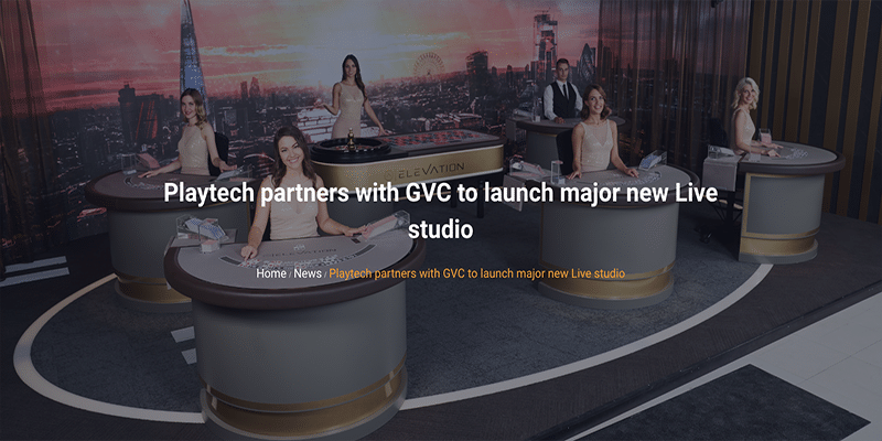 Photo of GVC Launch New Live Studio with Playtech
