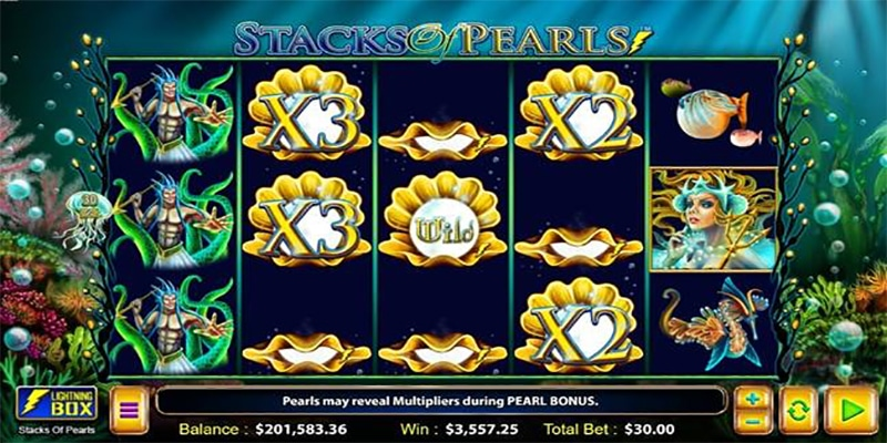 Photo of Stacks of Pearls Slot from Lightning Box