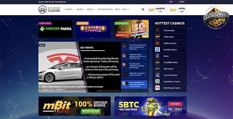 El mejor sitio de comparación de casino de Bitcoin experimenta una nueva apariencia